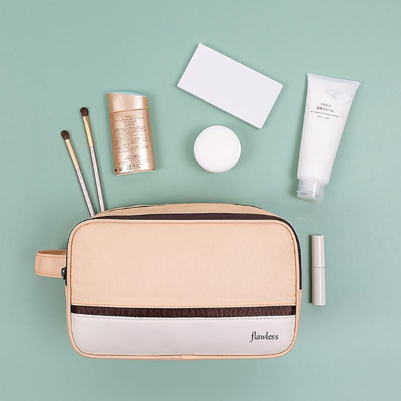 Poliestere impermeabile make up sacchetti cosmetici per le donne portatile da viaggio toilette da viaggio femminile bellezza trucco borse di bellezza della ragazza della ragazza
