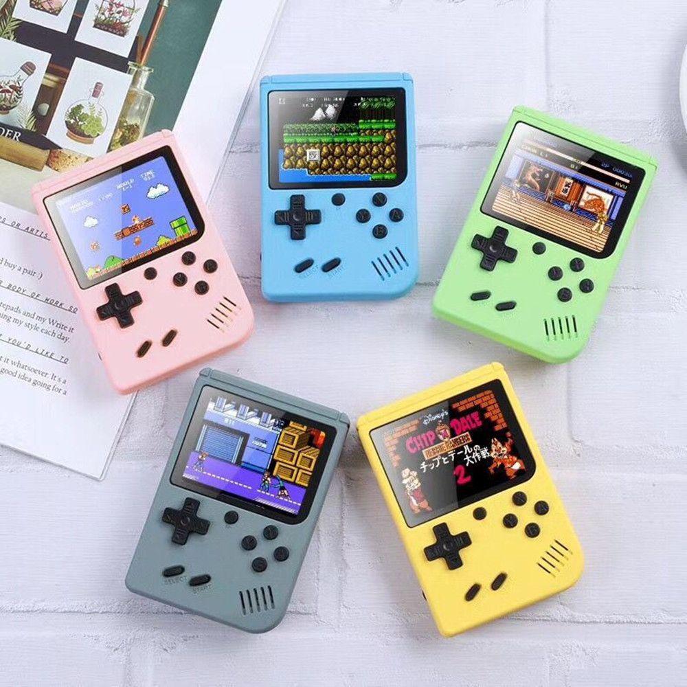 500 1 Oyunlar Mini Taşınabilir Retro Video Konsolu El Oyun Oyuncular Boy 8 Bit 3.0 Inç Renkli LCD Ekran Gameboy LJ201204