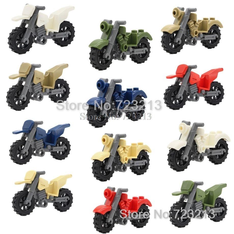 6cm Motorlu Bisiklet Taşıtlar Tek Satış Motosiklet Aksesuarlar MOC Motorlar SWAT Parçaları Yapı Taşları Tuğlalar Eğitim Oyuncaklar Çocuk