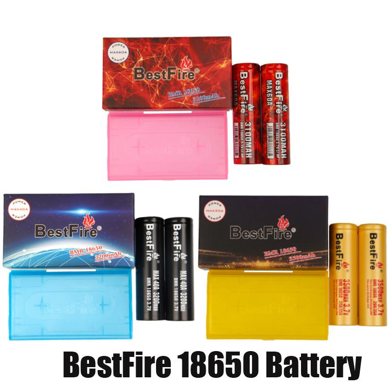 100 % 원래 BestFire BMR IMR 18650 배터리 3100mAh 3200mAh 3500mAh 충전식 리튬 Vape Box mod 배터리 포장