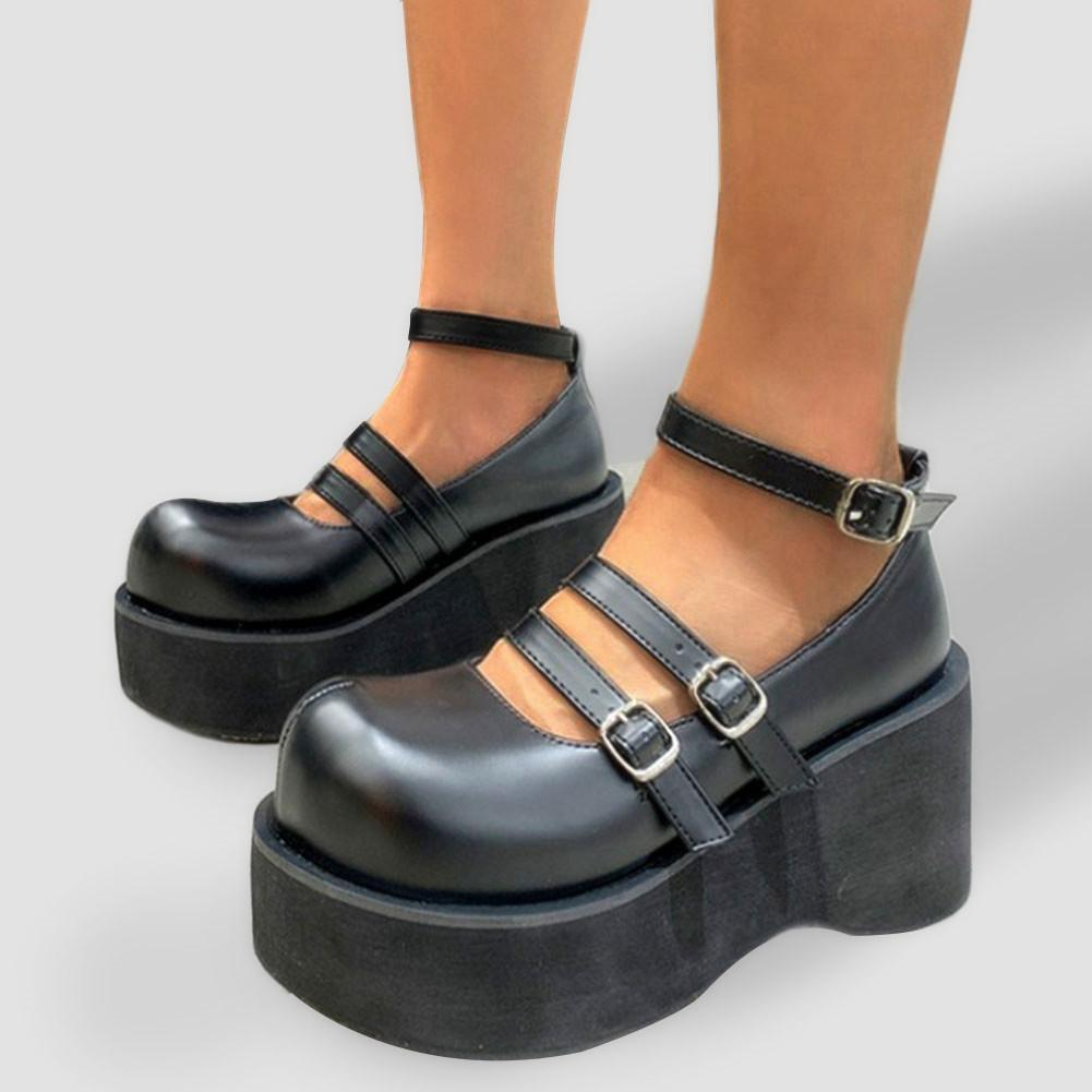 Brand New Chic Ins Hot Sweet Platform Wees Chunky High Tacchi alti Mary Janes Shoes Pompe