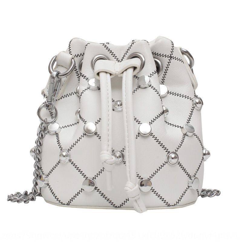mulheres Verão 2020 saco de novos coreano Mini Mini cadeia de moda balde único pequeno saco de ombro pequena pernalta 7FGVy