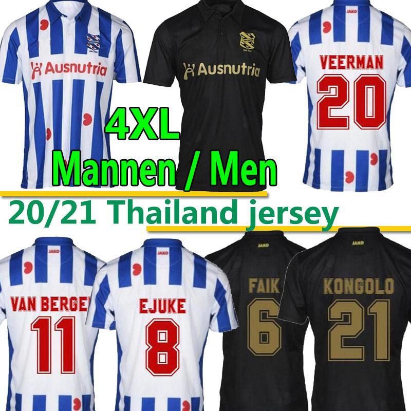 2020 2021 DE SUPERFRIEZEN SC Heerenveen Futbol Formaları Eve Uzakta Meier Dresevic Veerman Kongolo Erkekler Çocuk Kitleri Futbol Gömlek Üniformaları 4XL