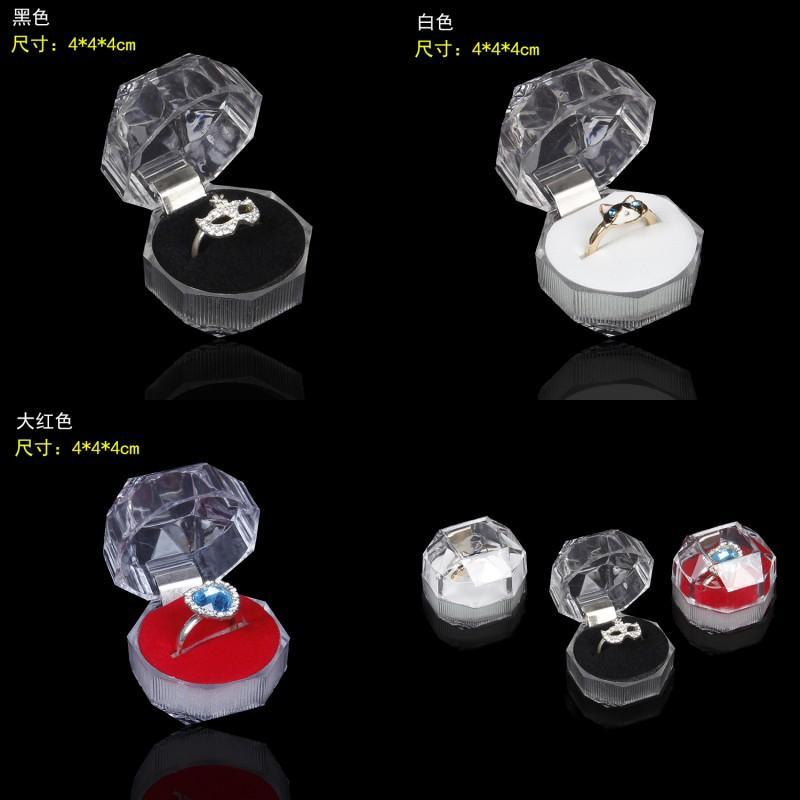 Акриловая нежная модная коробка для ювелирных изделий для кольцевых браслетов подвесные шарики Серьги Ударные кольца Держатель Дисплей коробки Ювелирные изделия Коробки упаковки 105 м2