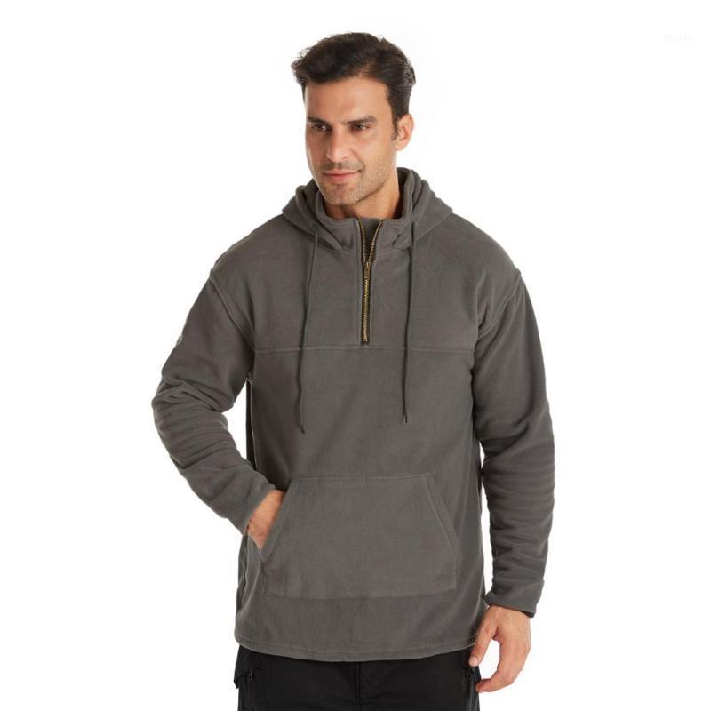 Plus größe winter männer mode lose weiche fleece pullover stil thermisch casual sweatshirt1