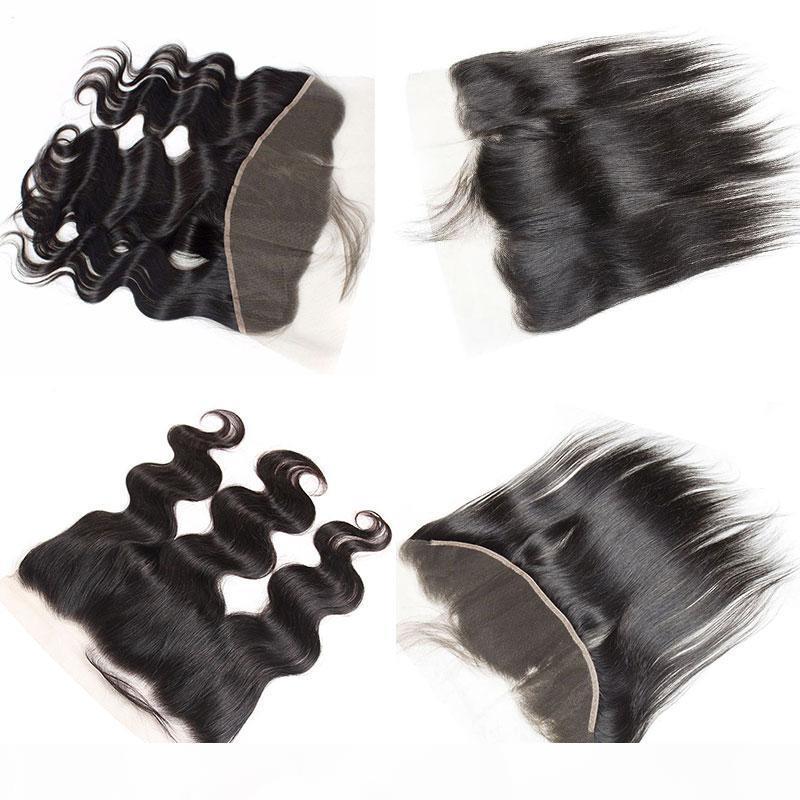 Top gerade Spitze Frontal Verschluss Freies Teil mit Babyhaaren. Hohe Qualität 100% brasilianisches Reines Haar.