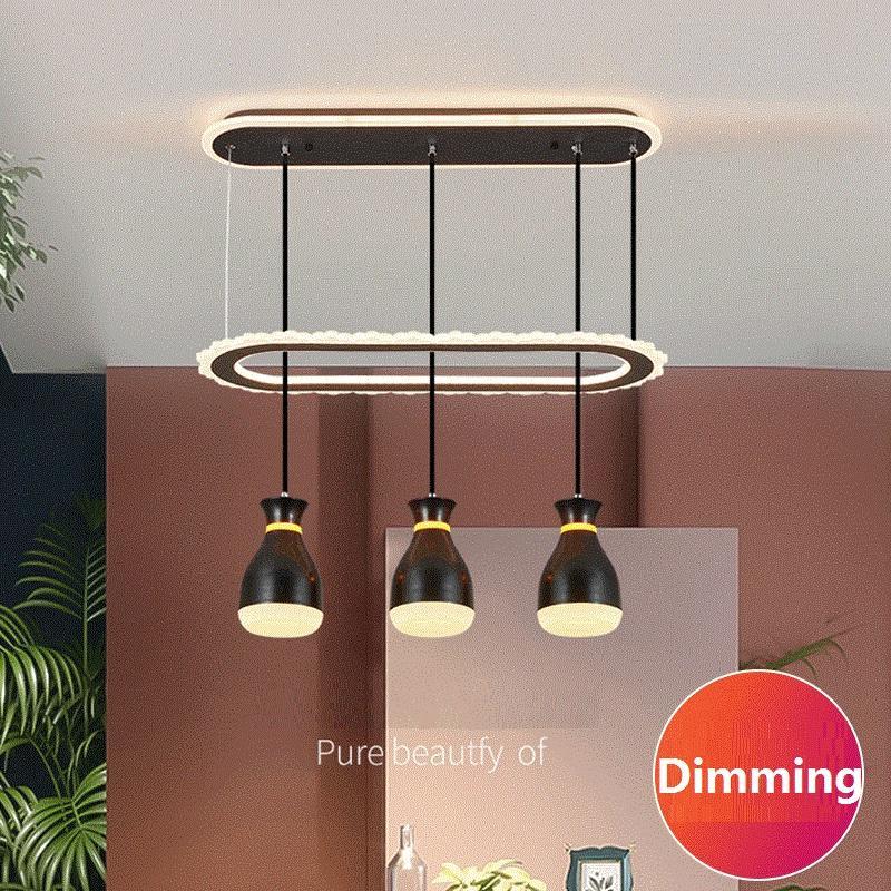 Nordic люстры гостиной лидирующей люстры столовая дом столовой искусство роскошь светой спальня настенного выключатель трехцветного затемнение lampRW467