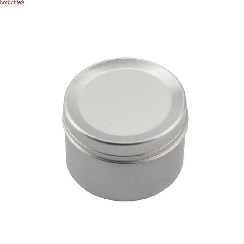 50 ml crema de crema de crema latas de ungüento Muestras de aluminio Potes de cosmética Botella recargable 50pcs / Lothigh Quatity