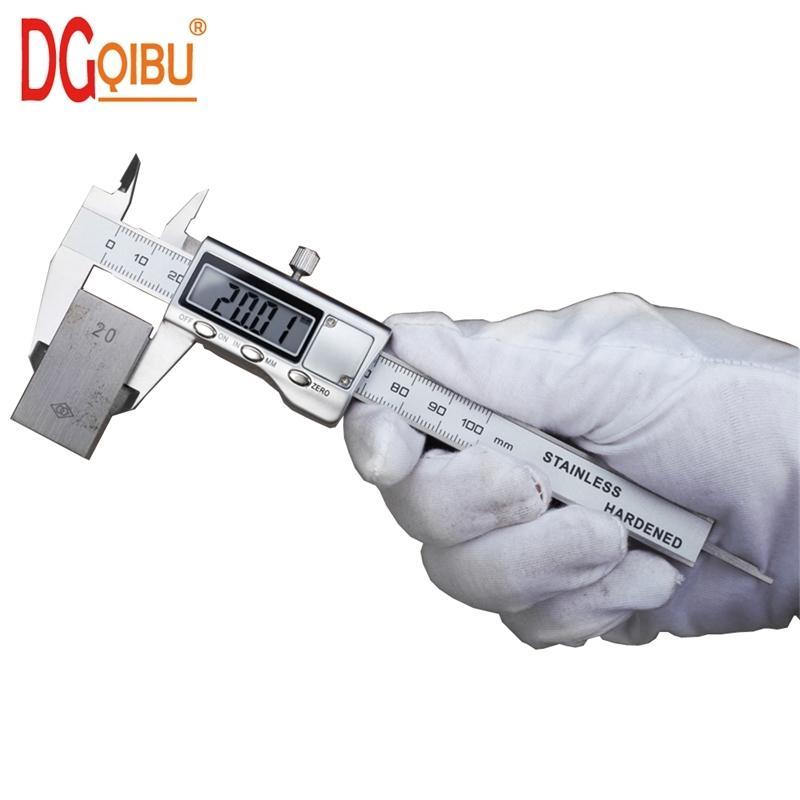 المعادن 4 بوصة 100 ملليمتر الفولاذ المقاوم للصدأ lcd الالكترونية الرقمية المقياس الورني الفرجار ميكرومتر قياس أدوات الرقمية الفرجار رقمي T200602