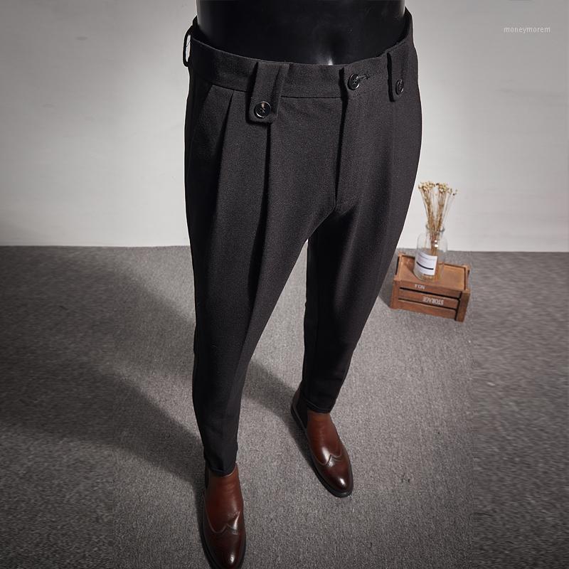 2020 Nuovi Business Dress Pantaloni Fashion Piews Casual Slim Fit Office Sale Social Suit Pantaloni Streetwear Pantaloni Costume Homme1