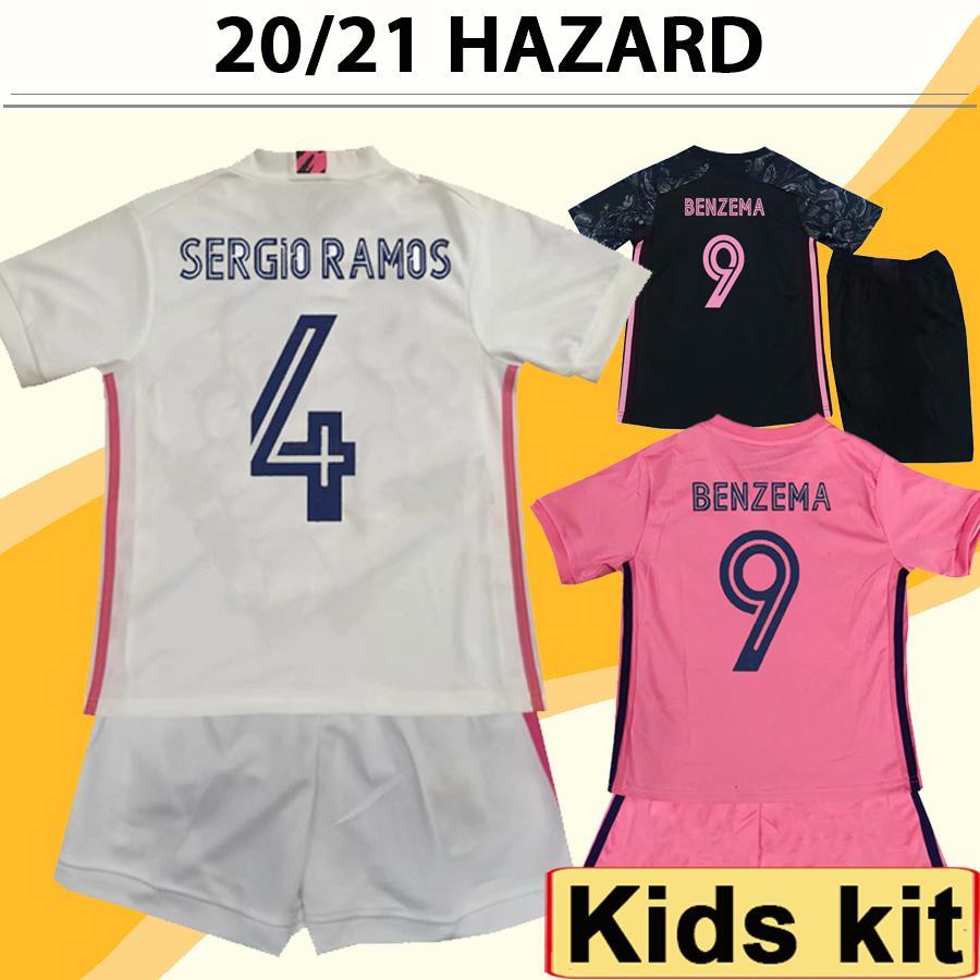 20 21 ASENSIO Hazard Kids Kit Soccer Jerseys New MODRIC SERGIIO RAMOS KROOS BENZEMA MARCELO ISCO Child Home Away 3rd Football Shirt