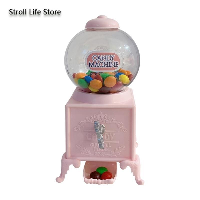 Creative Pink Candy Twist Machine Tipgy Bank pour Paper Money Boîtes Anniversaire Cadeau Valentin's Jour Fille Coeur Cadeau Ornements FP092 LJ201212