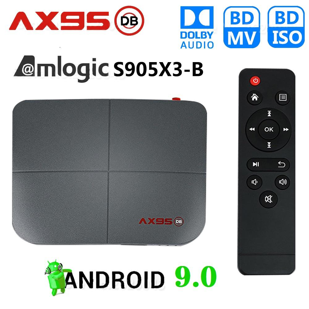 AX95 DB Android 9.0 Amlogic S905X3 4GB+32GB/64GB TV Box Support Dual 2.4G+5G Wifi 8K Android TV BOX