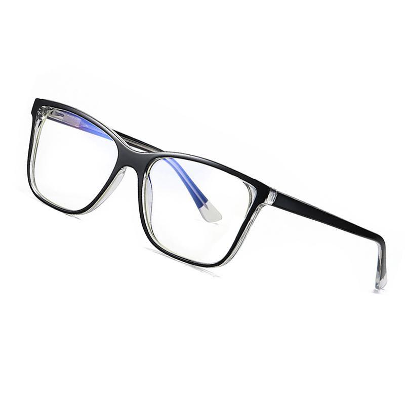 2020 Новая площадь Синий свет Блокировка очки Женщины Мужчины Близорукость Предписание очки Храм Optical очки Рамка