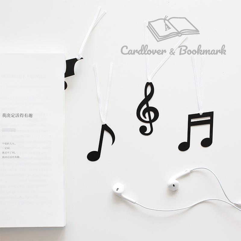 Yer İşareti Müzikal Not Serisi Düzensiz Şekil Sevimli Karikatür Uzun Kuyruk Şerit Bookmarks Ofis Okul Malzemeleri Kawaii Kırtasiye