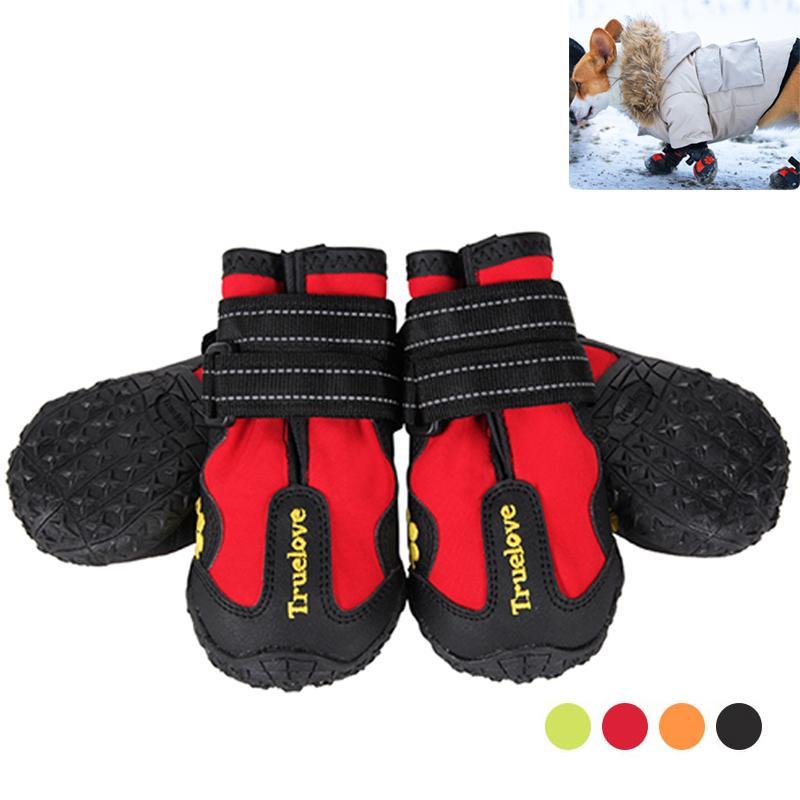 TrueLove Открытый Собачья Обувь Дождь Водонепроницаемый Нескользящий Собачья Обувь Снежные Сапоги Кроссовки Для Собаки Обувь Все Погода Szapatos Para Perro LJ201130