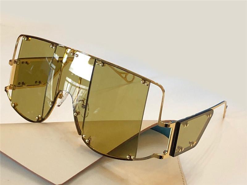 Con nuevos gafas de sol 10040 UV mujeres para hombres protección de metal vintage e integrado moda cuadrada popular calidad superior con marco C tvci