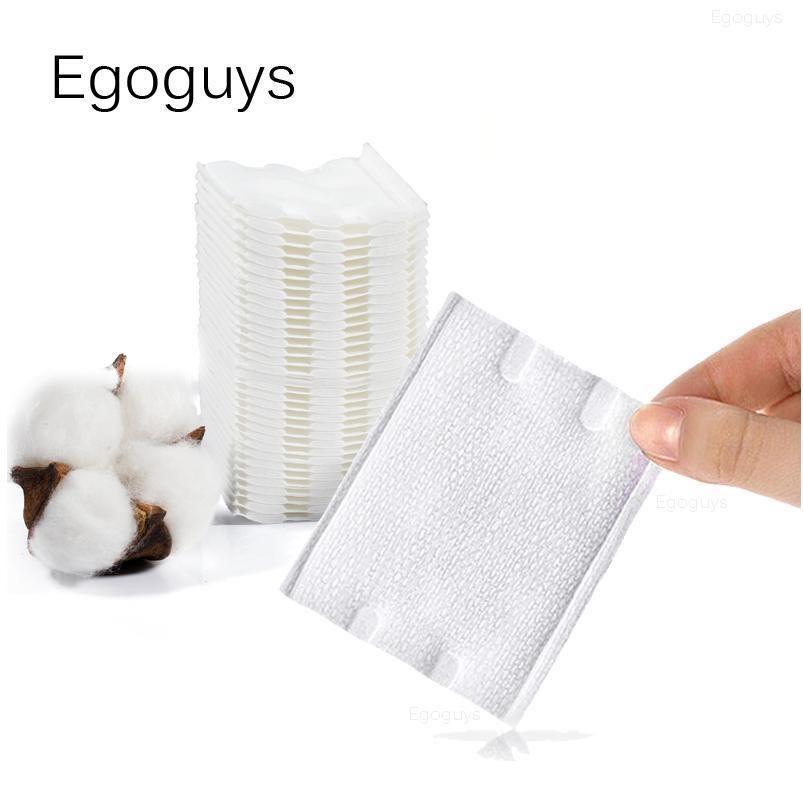 50 pcs cama de algodão de algodão de dupla face wipes polonês removedor guardanapos de limpeza dos guardanapos de cílios absorvem a colagem soak Papel Pad Qylzph