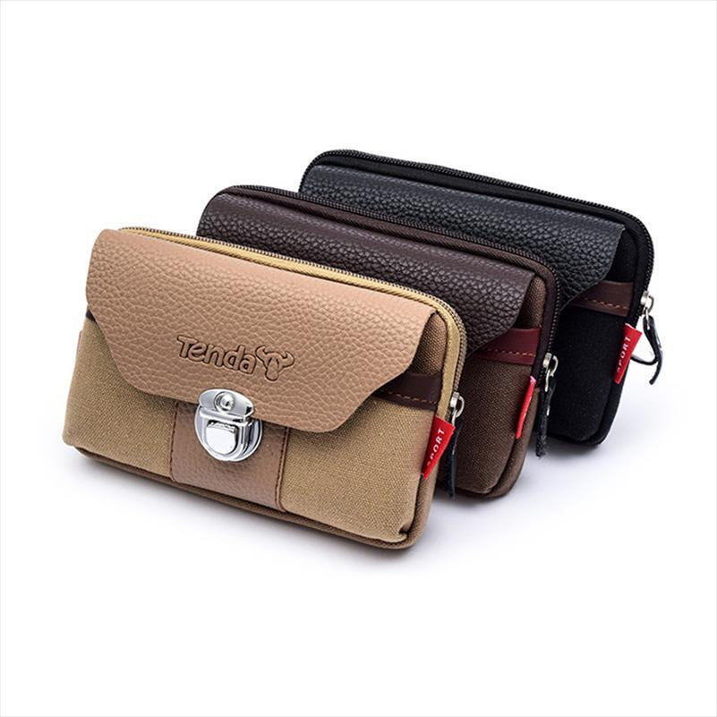 Pocket Tarjetas Hasp Hasp Cintura Bisi Bisi Moda Coin Borsa per esterni Telefono Heuptas Heren Heren Asura resistente alla tela Porta Borsa Abbigliamento FDMLJ