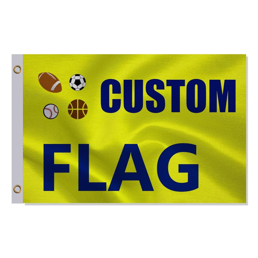 Benutzerdefinierte 3x5FT Flagge 90x150cm Unternehmen Werbung Logo Sport Outdoor Club Digitaldruck Banner und Flaggen Messing-Tüllen