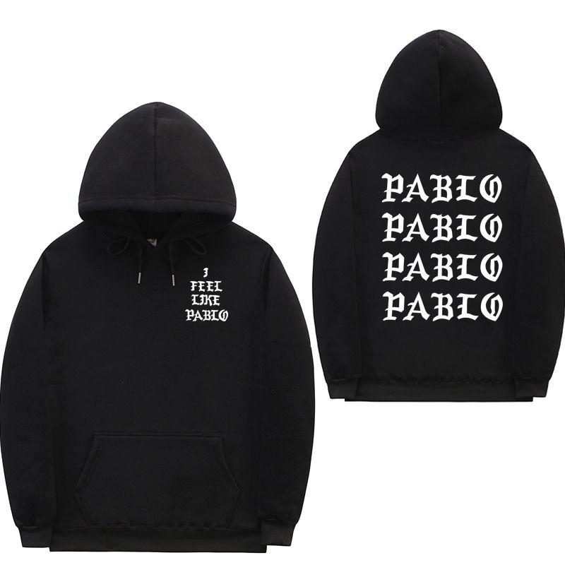 Я чувствую, как Пол Пабло Kanye West потеть Homme толстовки мужчин Толстовка Толстовки Хип-хоп Streetwear Hoody PABLO балахон C1011