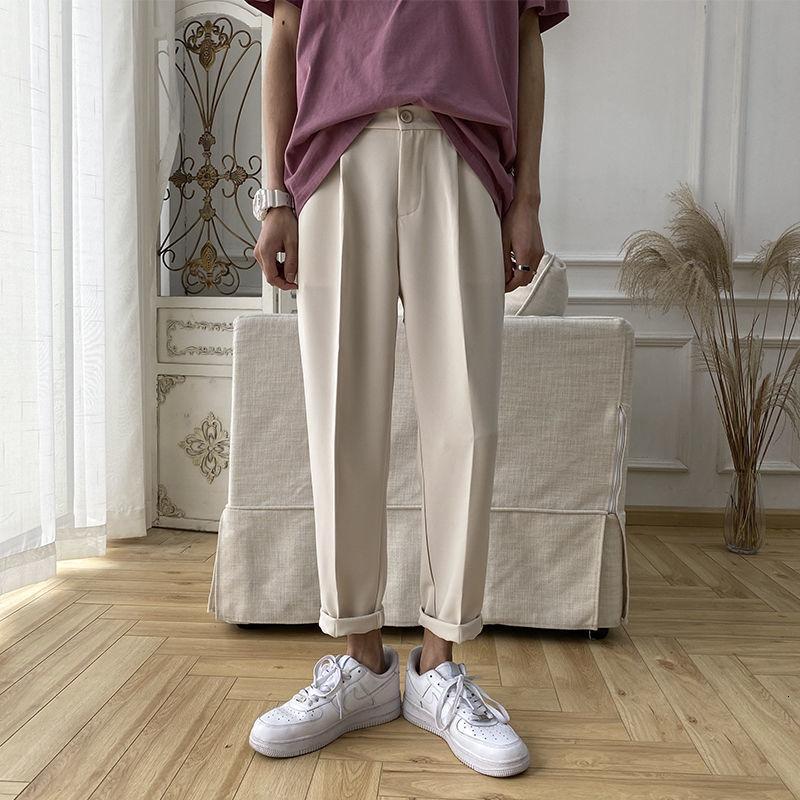 Privathinker Koreli Erkekler Harem Pantolon Katı Harajuku Kadınlar Günlük Pantolon Streetwear Man Gevşek Siyah Pantolon Pantolon 3XL 200930