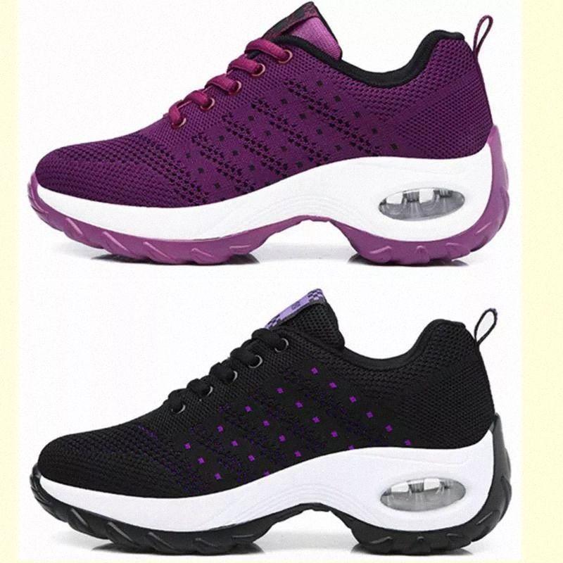 Blwbyl sapatos mulheres esportes ar sola tênis sapatos sapatilhas ao ar livre andando jogging treinadores tecendo lazer sapatos # Q67O