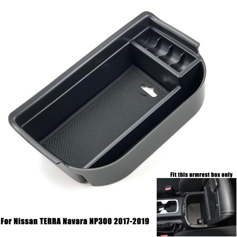 Car Organizer For Qashqai X-Trail T32 Rogue TERRA Navara NP300 Sylphy Sentra Pulsar Tiida II Maxima A36 Y62 Armrest Storage Bo