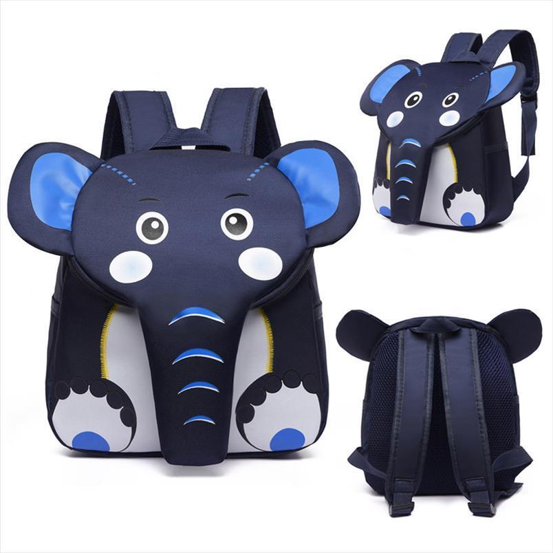 Carino 3D 2020 School Szkolny Bambini Backpack Bambini Designer Animal Designer Elefante Borse da scuola Boys Girls Schoolbag Plecak per VAPAF