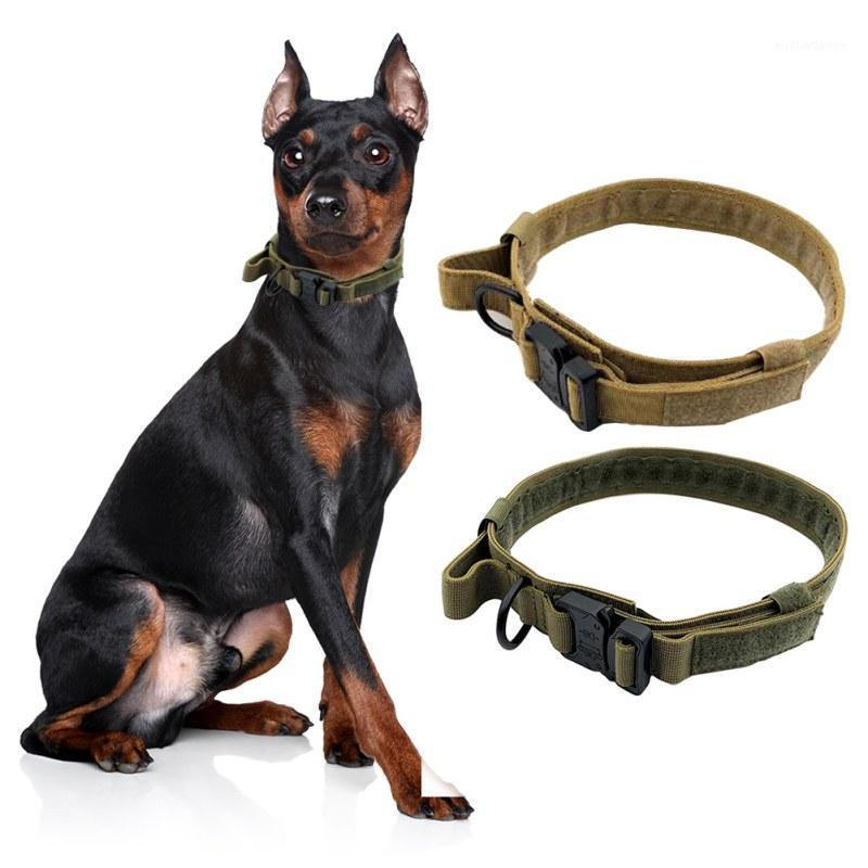 Taktische Hundekragen Tactical Dog Heavy Duty Collar mit Kontrollgriff PET Einstellbar Training Walking Collar1