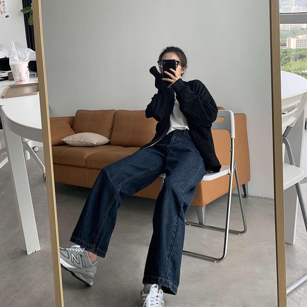 Sixi à la maison fait du printemps et de l'automne à la taille haute jeans de la jambe pour femmes