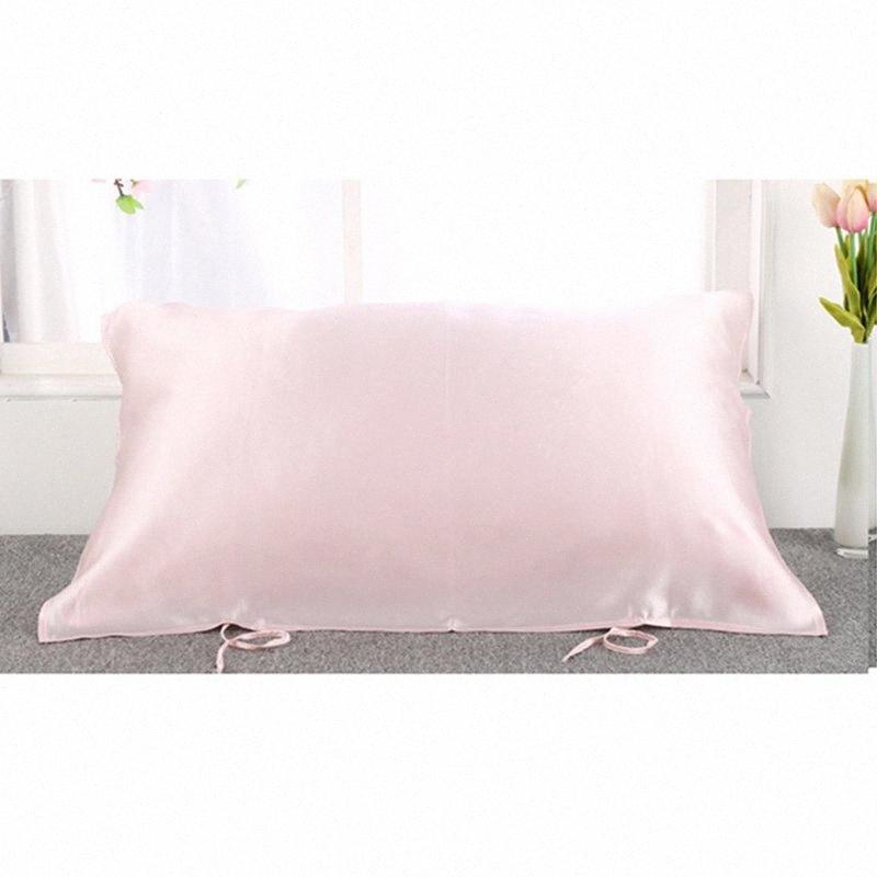 100% pura seda de mora 16momme almohada almohada almohada cubierta de toallas de raso Para el buen dormir Cuidado del Cabello Caso # 7mSn
