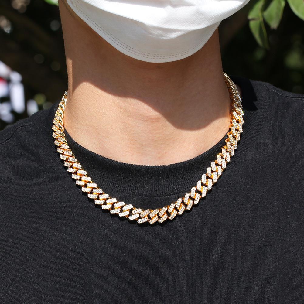 2020 Мужские Алмазные Ожеленые Теннисные Цепи Ювелирные Изделия Медь Ожерелье Браслет Серебряные Золотые Цепи Ожерелья 12 мм