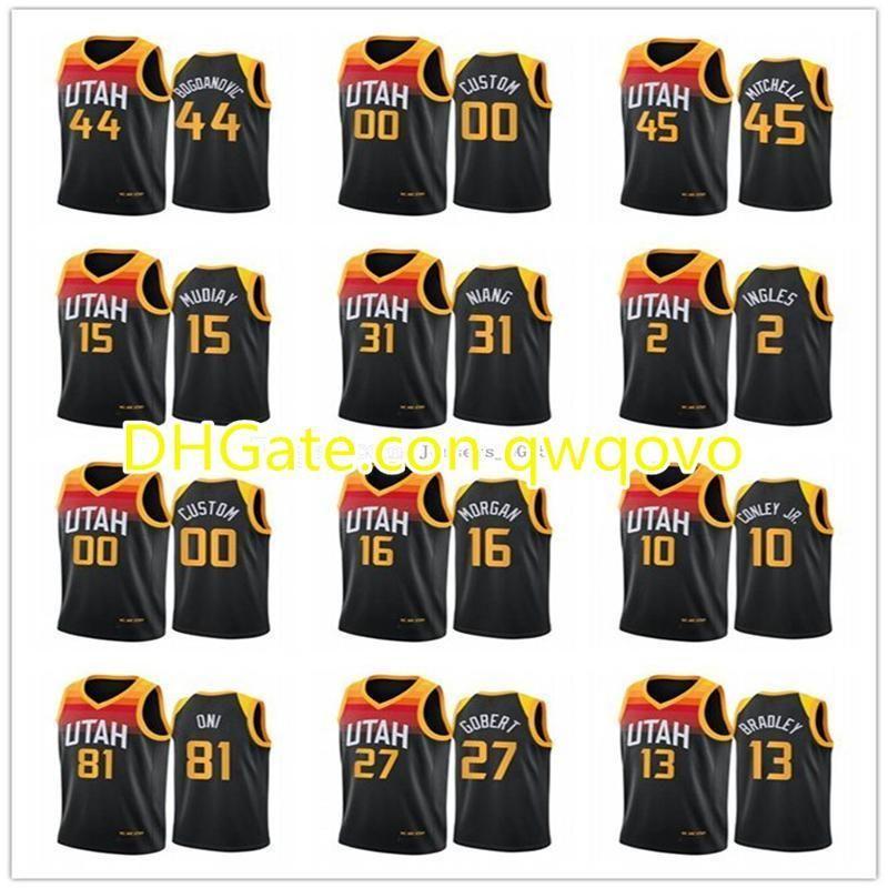NCAA UTAHJazzHombres mujeres jóvenesBogdanovic Mike Conley Rudy Gobert Donovan Mitchell 2020-21 City Basketball Jersey