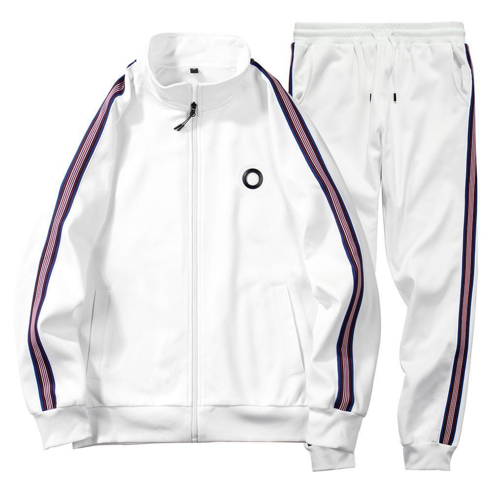 Men Sets Fashion 2020 Autumn Spring Sporting Suit 2pcs Sweatshirt +Sweatpants Mens Clothing 2 Pieces Sets Slim Tracksuit Hoodies