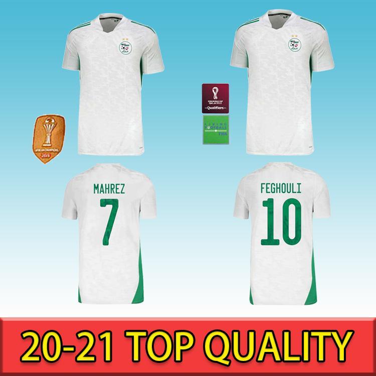 Hayranları Sürüm 2020 En Kaliteli Cezayir Futbol Formaları Mahrez Feghouli Bennacer Atal 2021 Cezayir Futbol Futbol Takım Gömlek