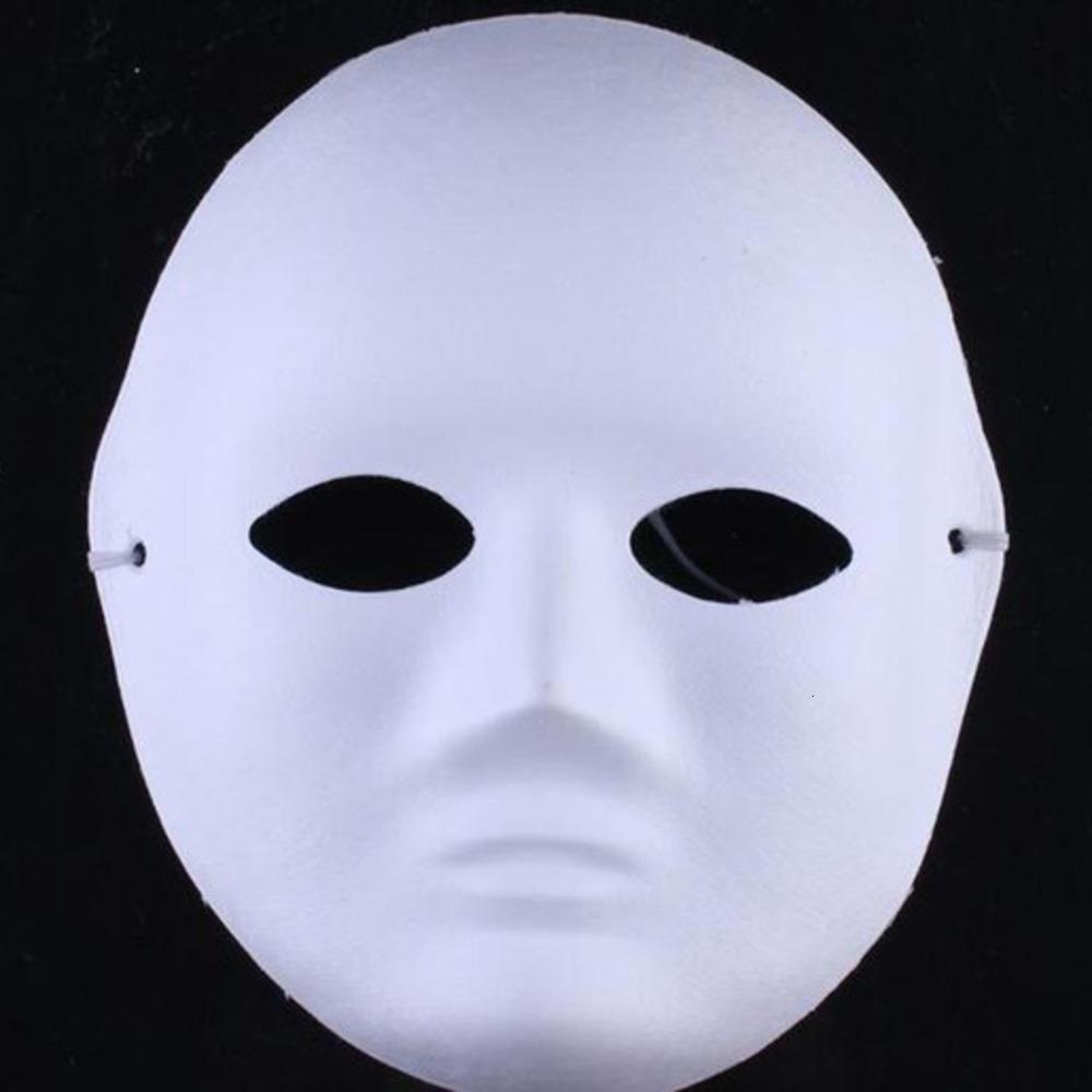 Kalınlaşmak için Çevre Boyasız Adam Dekorasyon Kadınlar Boş Hamuru Tam Yüz Maskesi DIY Güzel Sanatlar Boyama Maskeleri SN646