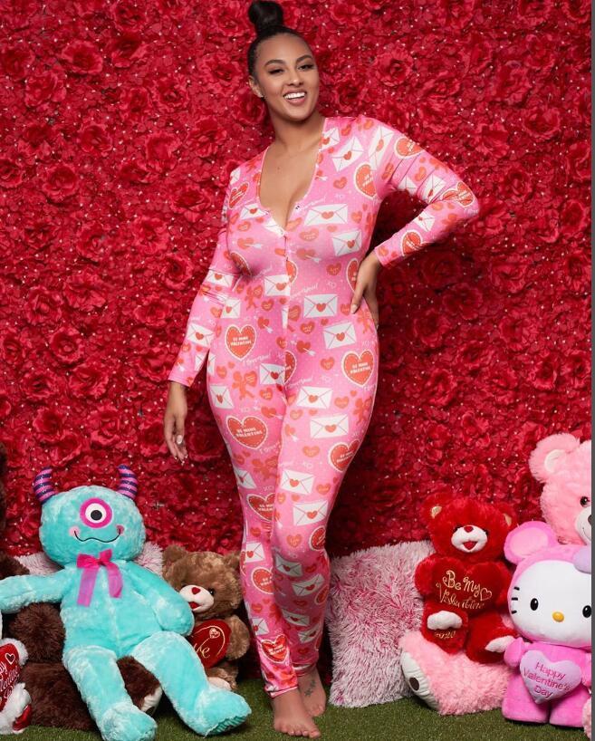 2020 Новая мода женщины Homewear с длинным рукавом Длинные брюки Пижама Комбинезон Sexy печати ползунки трико Multi-стиль