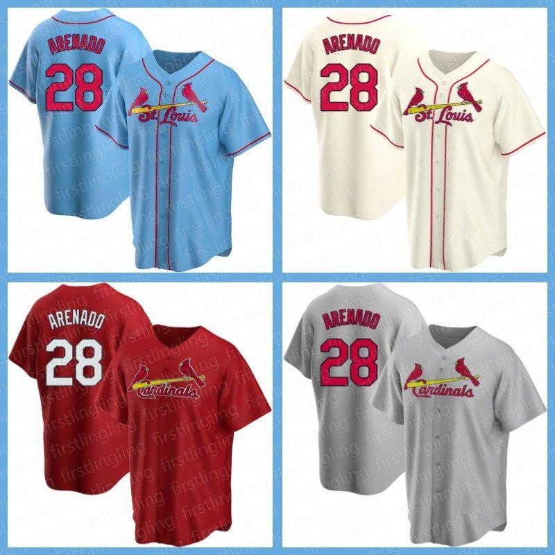 Homens St. Louis.Cardeais.Jersey Baseball 28 Nolan Arenado 46 Paul Goldschmidt 4 Yadier Molina 1 Ozzie Smith 25 Dexter Fowler Homens