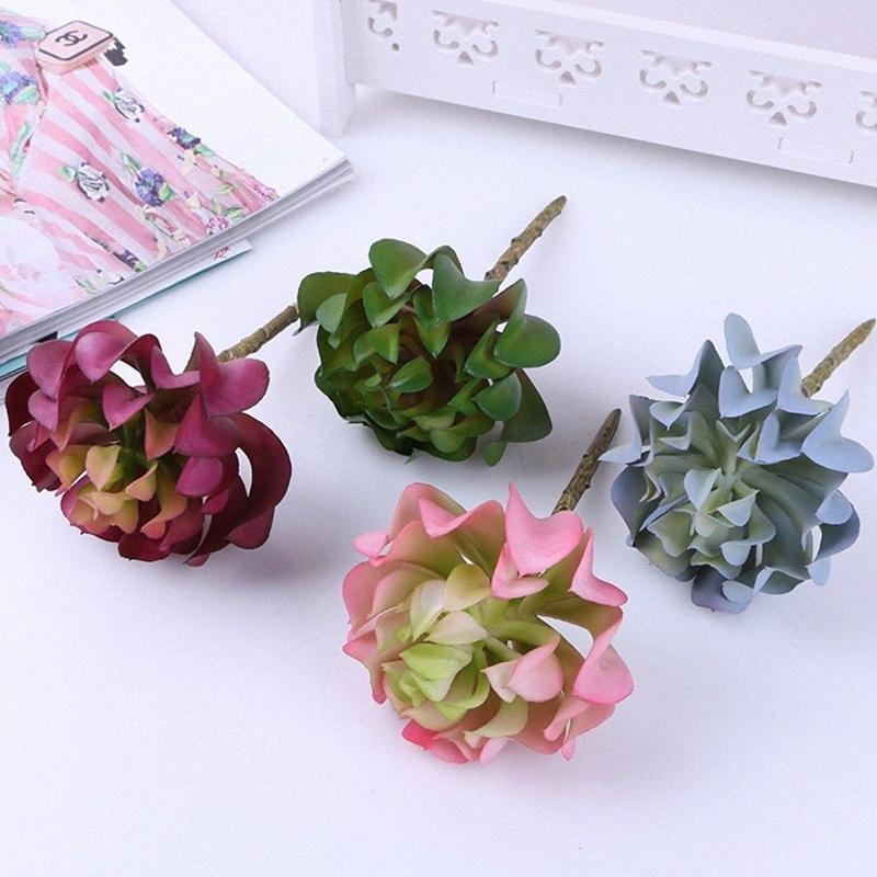 1PCS Artificial fleshiness Cactus Aloe Succulent plant Chitose lotus landscape PU decorative flower home Balcony decoration TvuX#