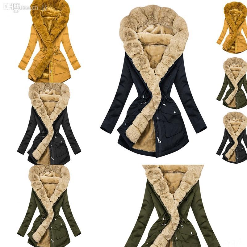ZE5LV NEVTBO Uzun Kuzey FA Ceket Kadın Ceket Kadın Baskı Kürk Yaka Artı Uzun Boyutu Kadın Kadın Kış Parka Casual Gevşek Ceket Kış Mont