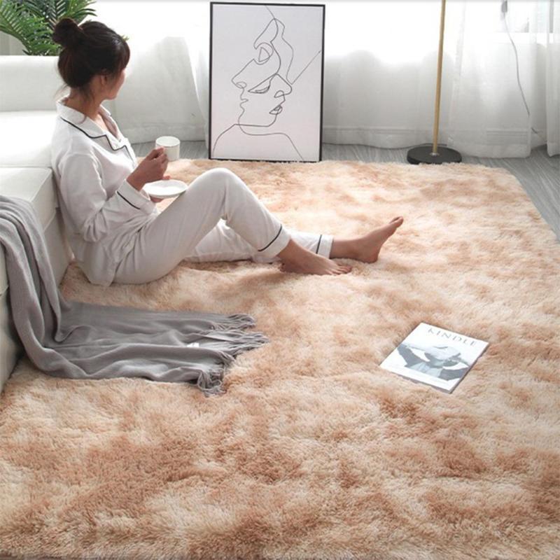 Gradient Massive Teppich Dicke Teppiche Teppich für Wohnzimmer Weiche Flauschige Kinder Schlafzimmer Matten Teppiche Alfombra