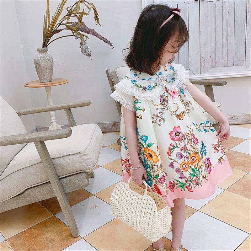 Mihkalev motif floral bébé fille robe d'été 2020 robe pour enfants pour filles robes princesse enfants tutu robe danse wear f1217