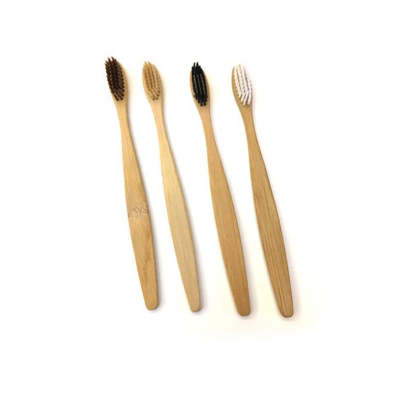 Cepillos de dientes de bambú limpiador lingual de los dientes de la dentadura kit de viaje Cepillo de dientes Cepillo de dientes Ambiental por diente Hotel Family LX3981