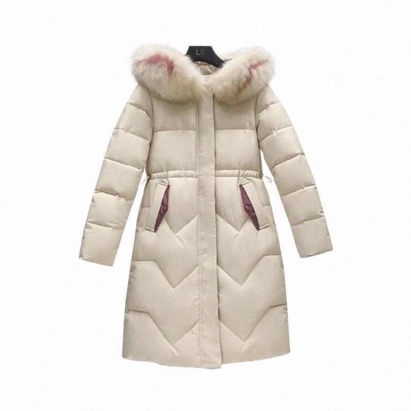 Tamaño Medio Largo sección gruesa de algodón ropa de moda con capucha Abrigo Plus capa de las mujeres chaqueta nueva de invierno de mujeres de algodón 4XL T37 FPyC #