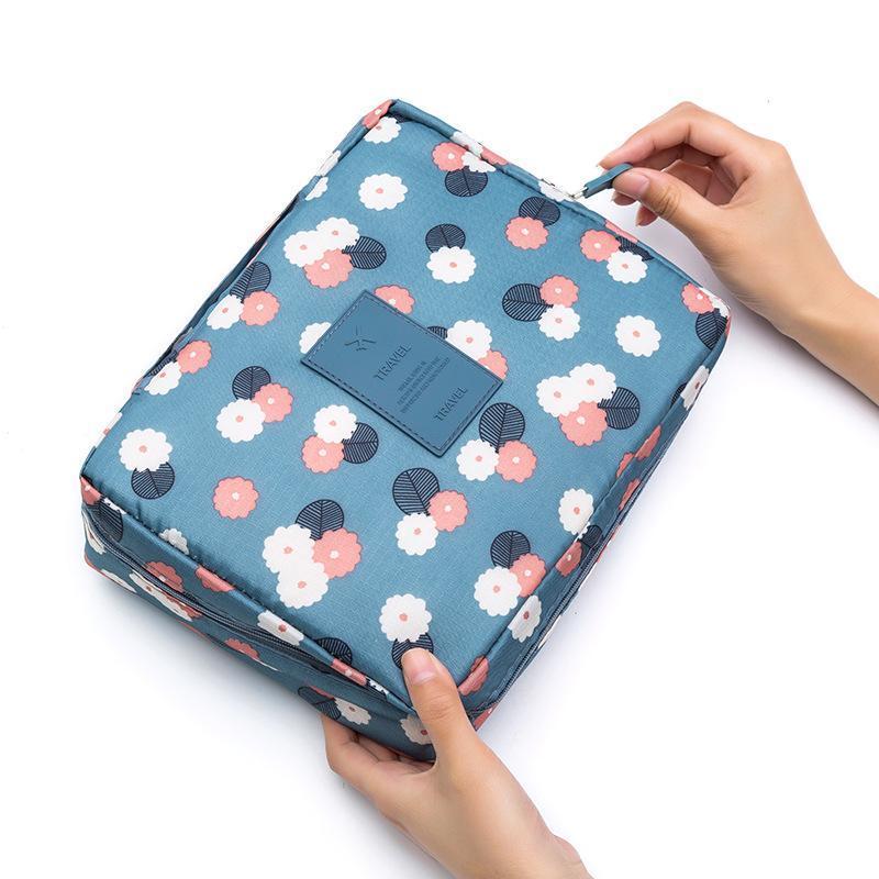 Donne Cosmetic Bag Zipper sacchetto di trucco femminile bagagli pacchetto del progettista della signora toilette Wash sacchetto della ragazza di grande capacità Borse da viaggio