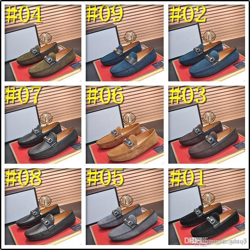 C5 NUOVO 19SS UOMO MOW Suede Suede Mocassini Primavera Autunno Autunno Genuine Pelle Driving Mocassini Slip on Designer Uomo Scarpe casual Dimensioni Big Size 38 ~ 46 33