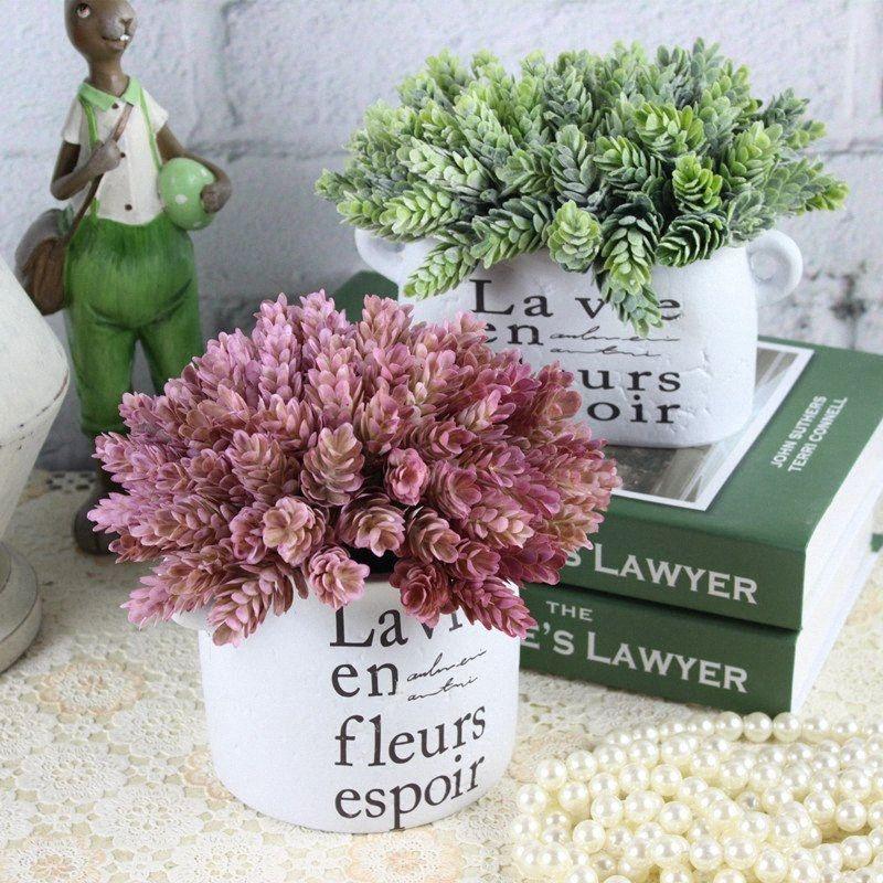 1Bunch Искусственный зеленые растения Ананас трава для дома стол украшения поддельные пластиковые DIY Цветочная композиция растения лже листва ZDEJ #