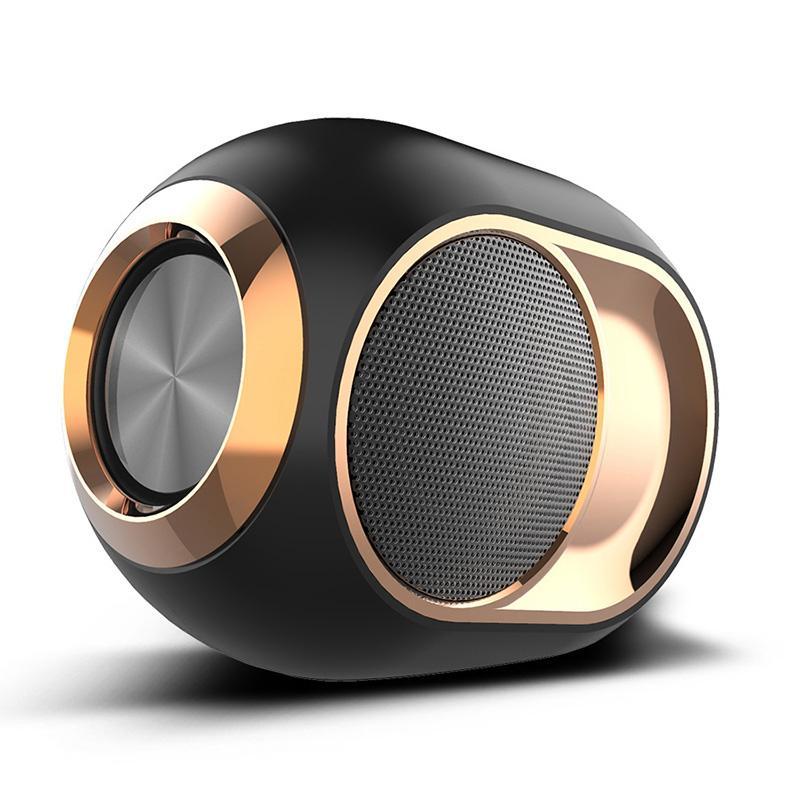 جودة عالية مصغرة x6 سماعات بلوتوث في الهواء الطلق المحمولة مشغل موسيقى ستيريو لاسلكي باس الصوت شريط TWS المتكلم USB فلاش القرص aux mode بالجملة