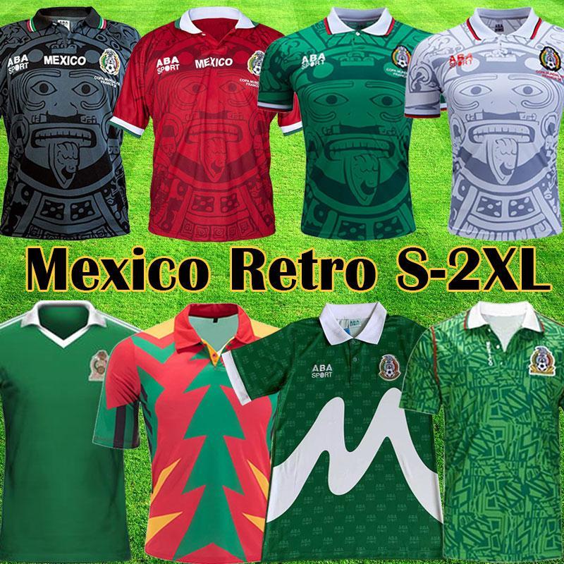 Acquista 1986 1998 Vintage Mexico Retro Soccer Jerseys Blanco Hernandez Blanco Campos Uniformi 1994 Jorge Campos Portiere Camicia Da Calcio Camicia A ...
